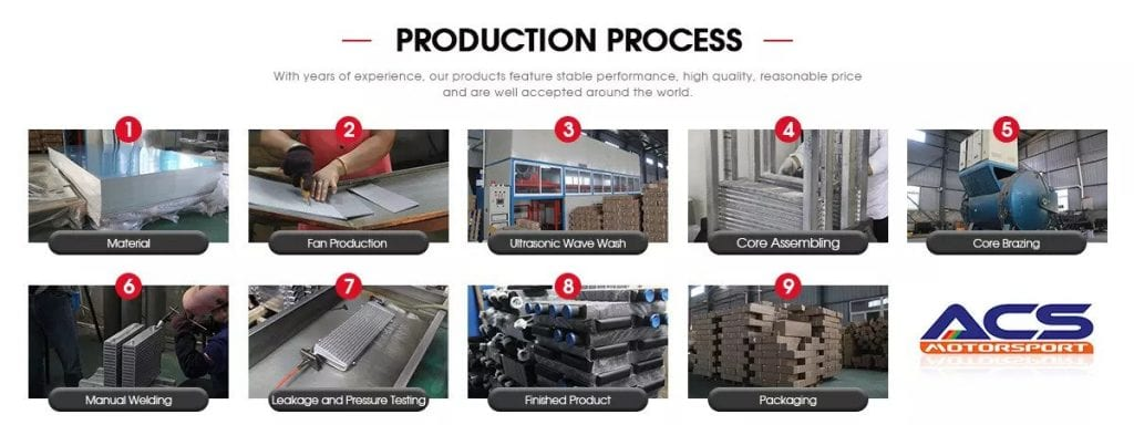 process for water to air intercooler